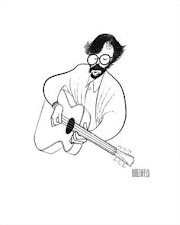 CARICATURIST AL HIRSCHFELD and his sketch of ERIC CLAPTON