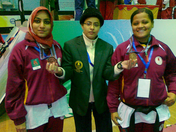 Aisha & Zaida Got Bronze medal in National Games 2010