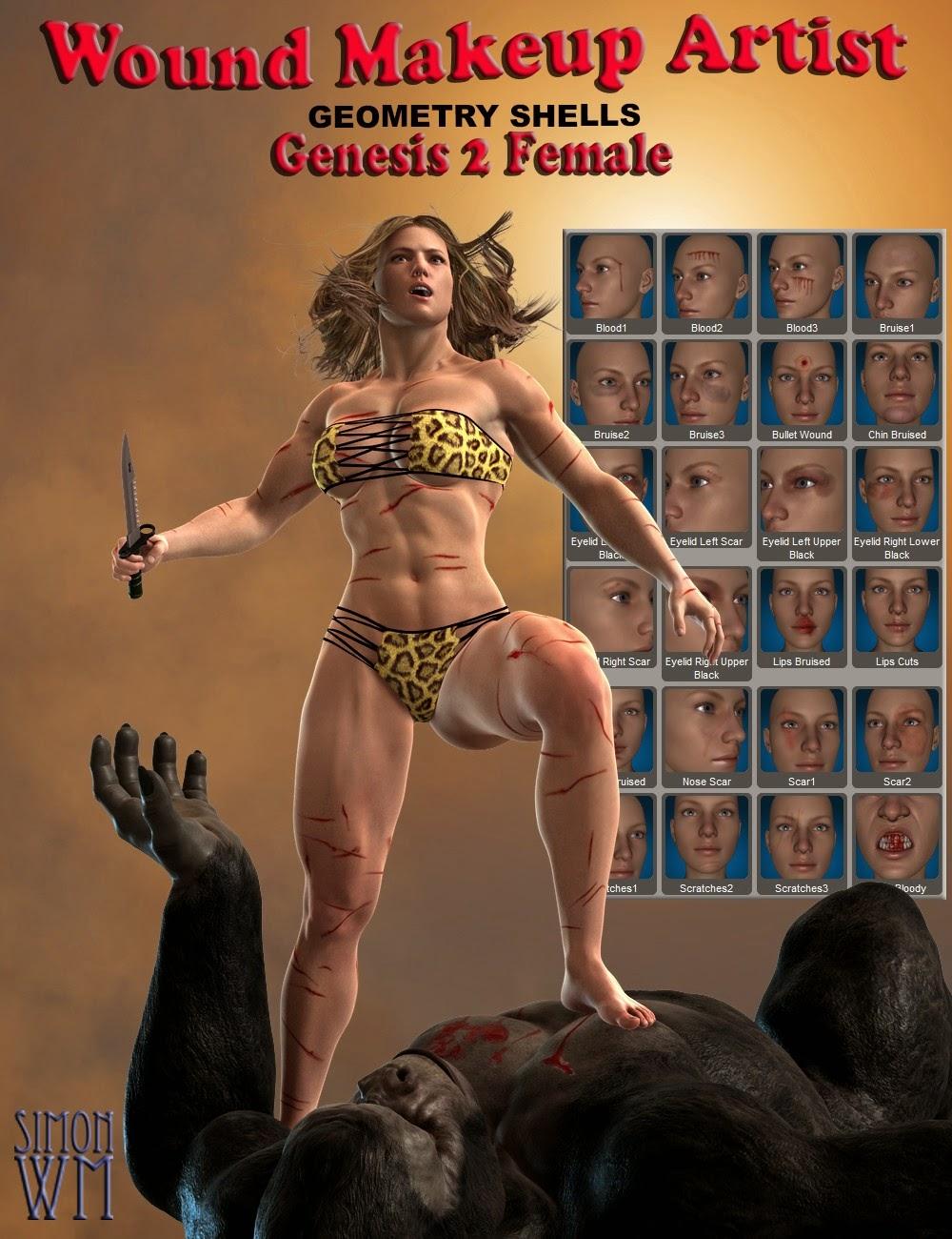 Plaies maquilleur Géométrie Coquillages - Genèse 2 Femme