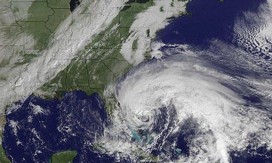شاهد مباشر للاعصار ساندي الولايات