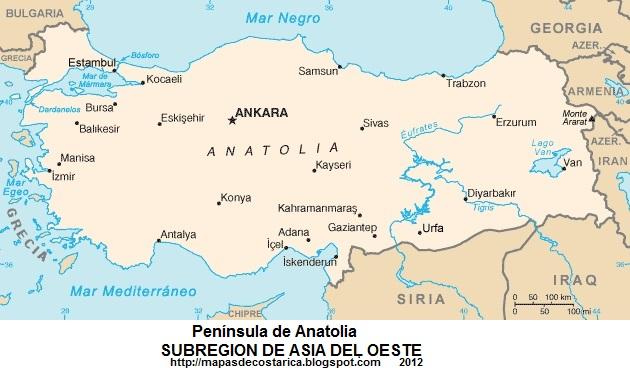 Mapa Peninsulas De Europa