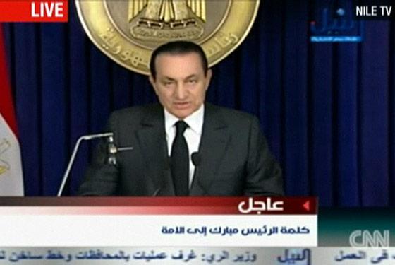 Hosni Mubarak, Mubarak Stepping Down
