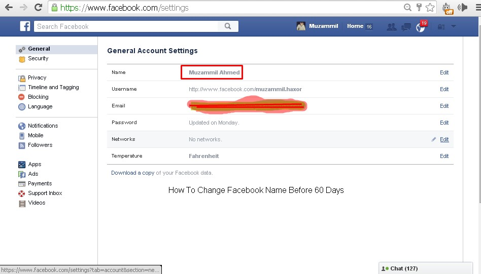 How To Change Facebook Name Before 60 Days « Faheem World
