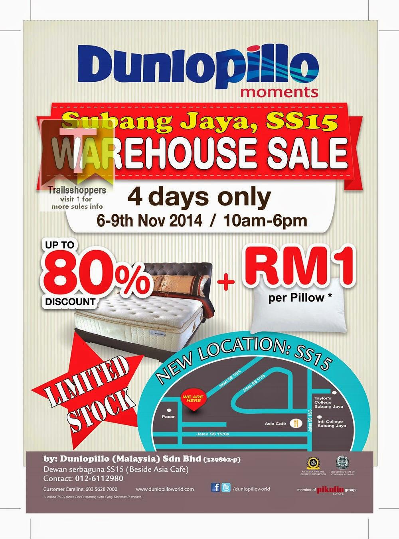 Dunlopillo Warehouse Sale subang jaya selangor