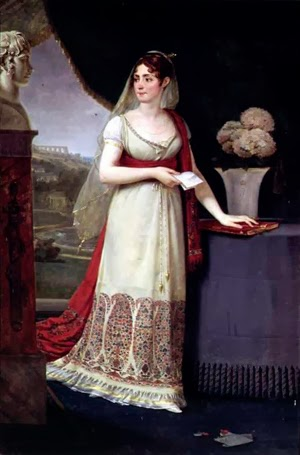 Josefina Bonaparte con chal de cachemira