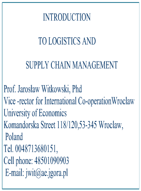 an introduction to logistics and the