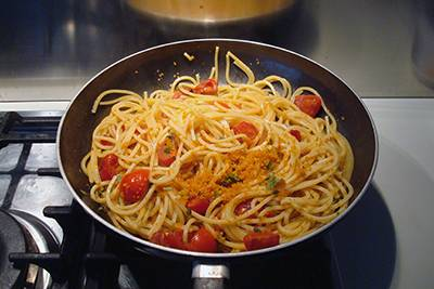 Pasta bottarga e pomodorini 6