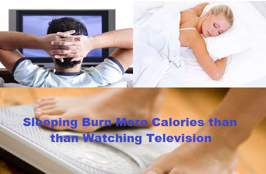 Sleeping Burn More Calories thans  than Watching Television.