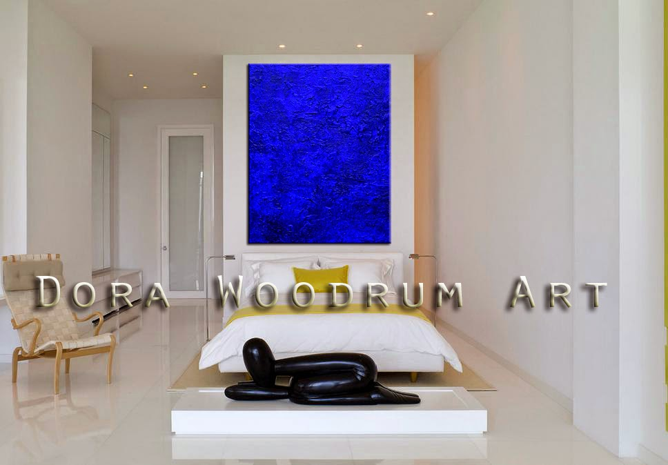 "Abstract Painting ""Ocean Blue"" by Dora Woodrum"