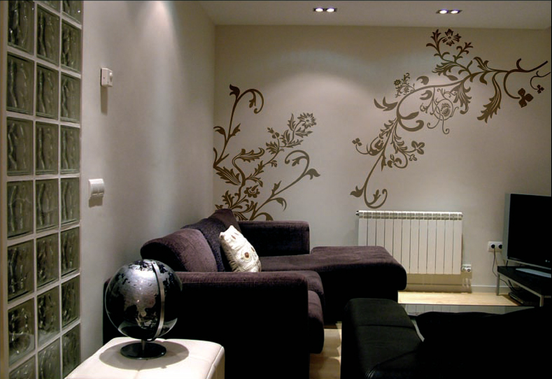 Dibujos para pintar en la pared imagui for Pintar paredes interiores