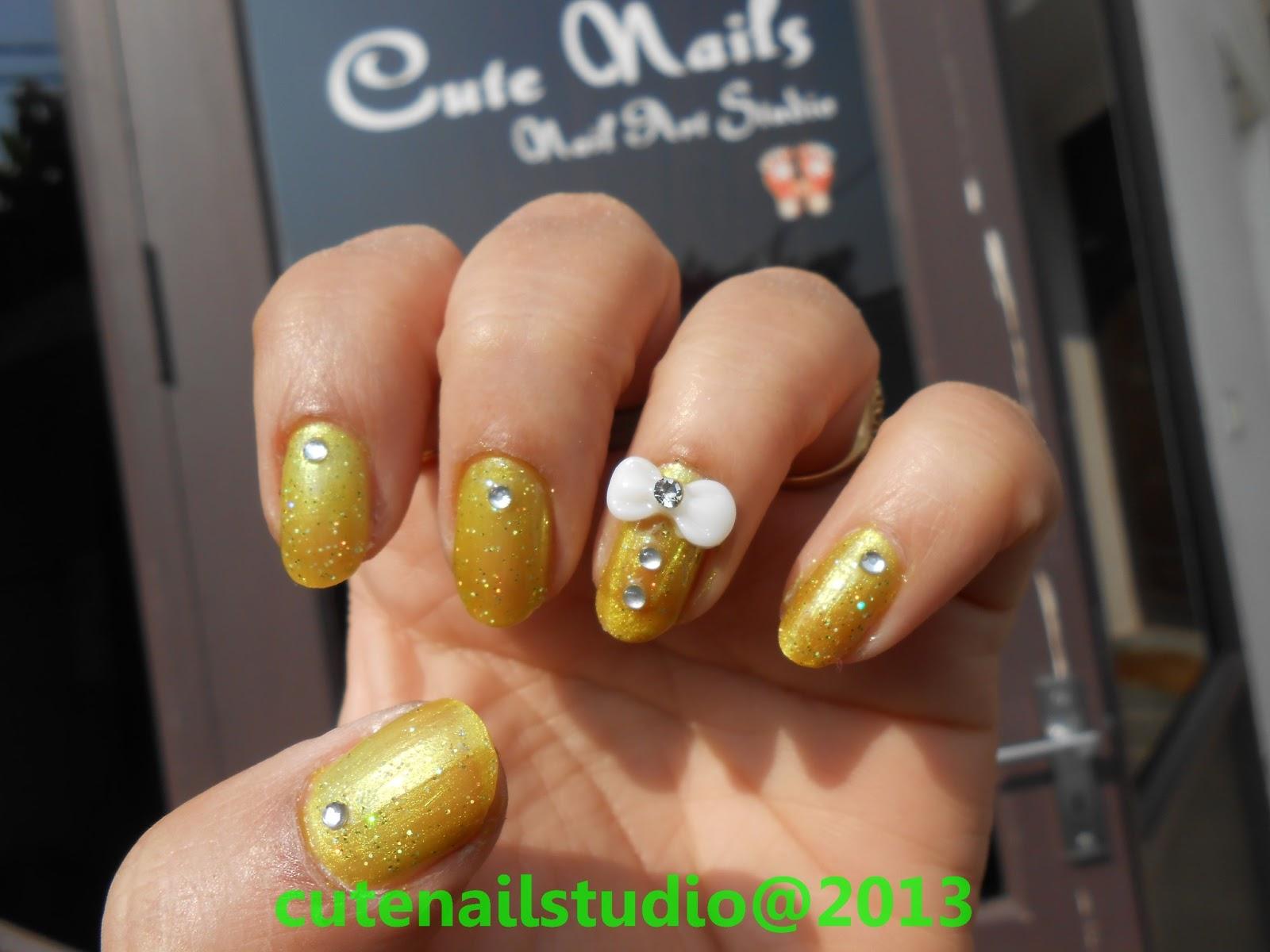 Cute nails 3d bow nail art for 3d nail art salon