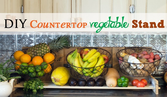 diy countertop vegetable stand, DIY project, building plans