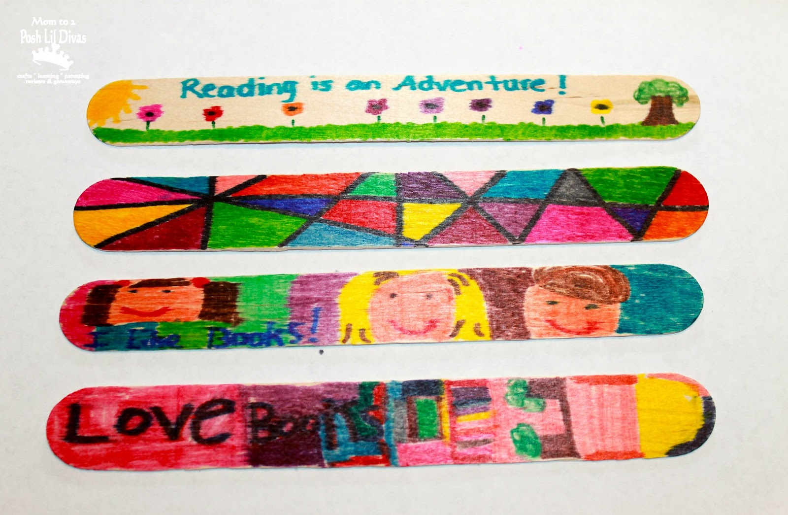 Bookmark Craft Ideas For Kids Part - 42: Easy Craft Stick Bookmark Craft For Kids