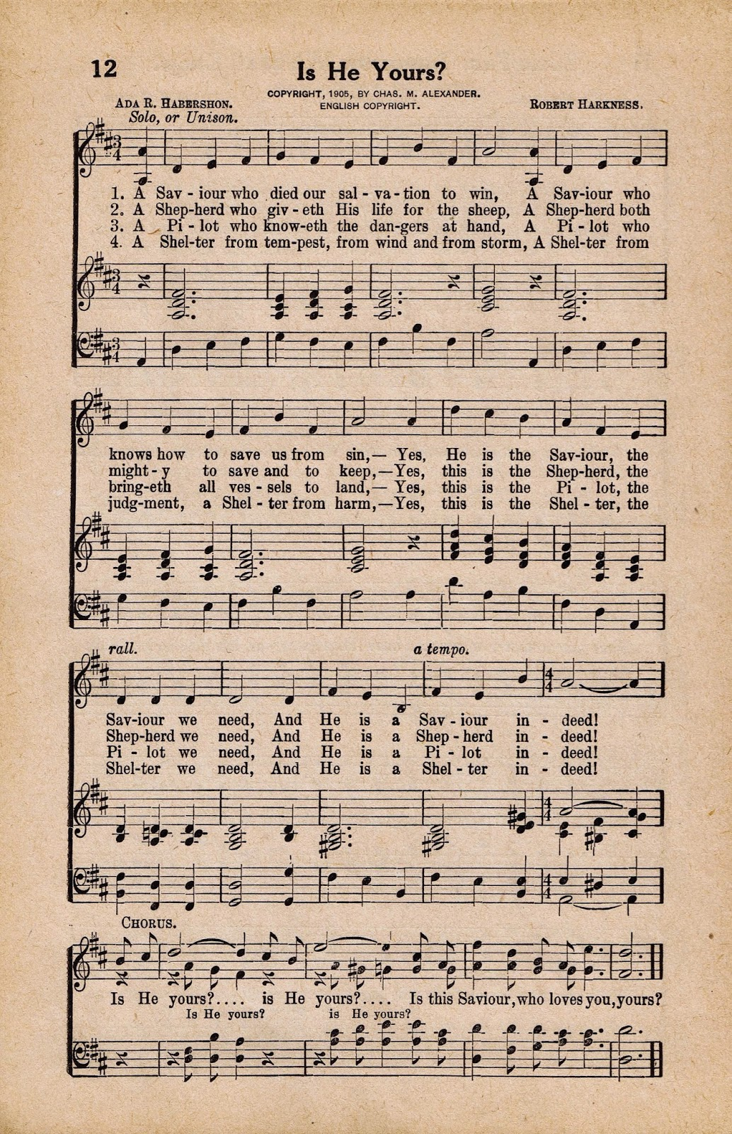 Printable Antique Hymn Book Page - Is He Yours? via http://knickoftimeinteriors.blogspot.com/