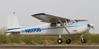 Pesawat latih Cessna di BPPP Banyuwangi.