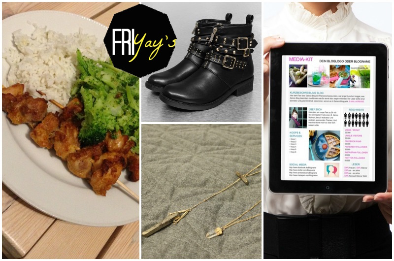 Lifestyle Friyays Biker boots, Spicy Cocos Chicken, Crystal Necklace, Blogging tipp