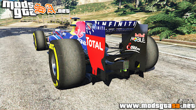 V - Red Bull RB8 do Sebastian Vettel F1 para GTA V PC