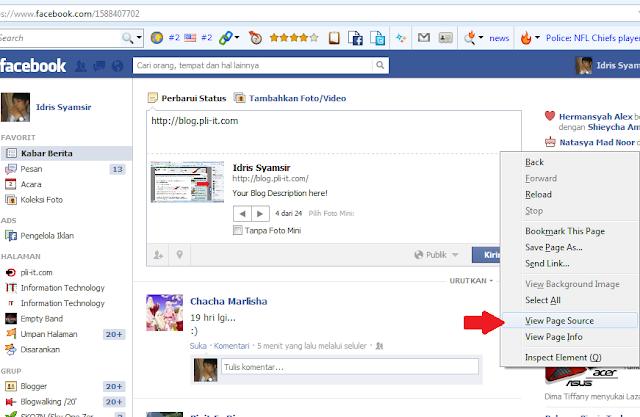 Cara Mengetahui Orang Yang Sering Membuka Profil Facebook Kita