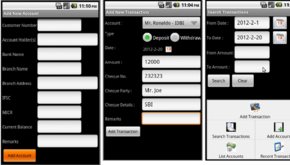 programmer bank account tracker project in android source code