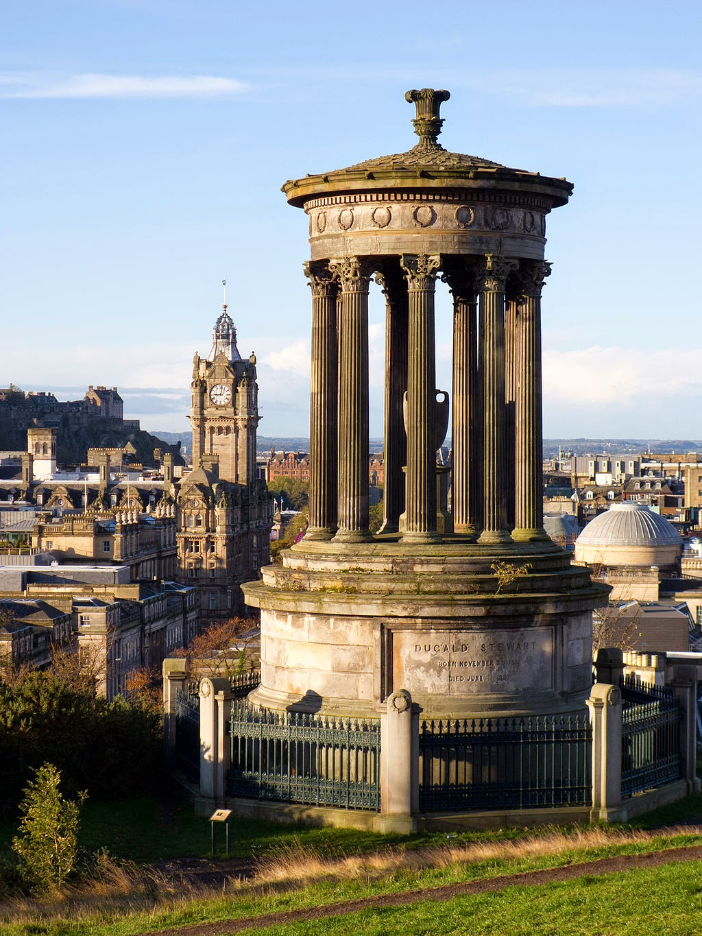 Dugald Stewart Monument on Carlton Hill in Edinbugh, Scotland