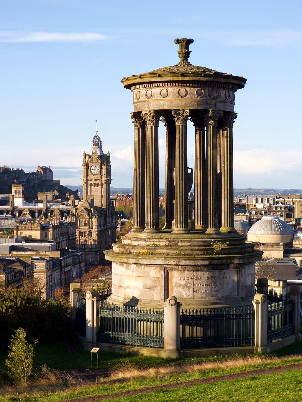 Dugald Stewart Monument on Carlton Hill in Edinbugh, Scotland