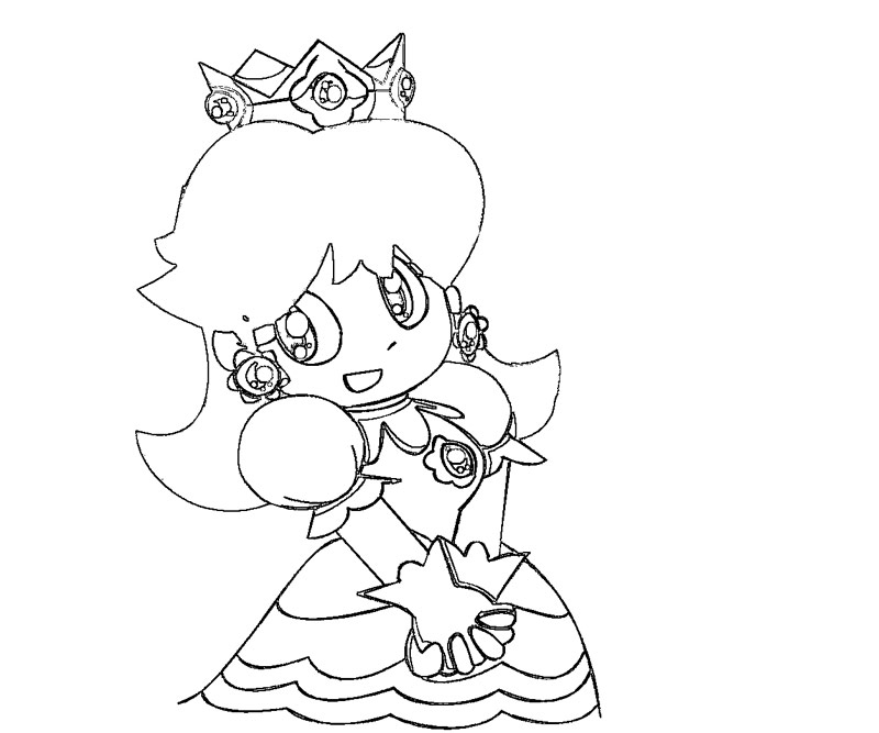 Printable Colouring Pages Princess Daisy