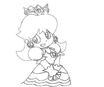 #7 Princess Daisy Coloring Page