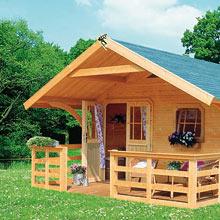 Arredamenti moderni casette in legno da giardino for Casette di legno obi
