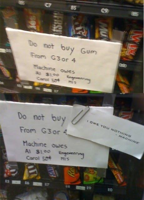 funny vending machine