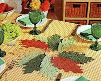 gráficos de folhas em crochê
