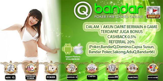 Image of Promo Bonus Cashback 2x Judi Bandar66 Online Situs QBandar