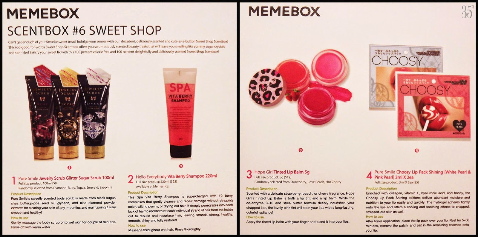 memebox Sweetshop scentbox