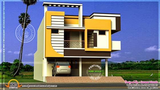Front Elevation Of 200 Sq Yards : Duplex houses front elevation of east facing joy studio