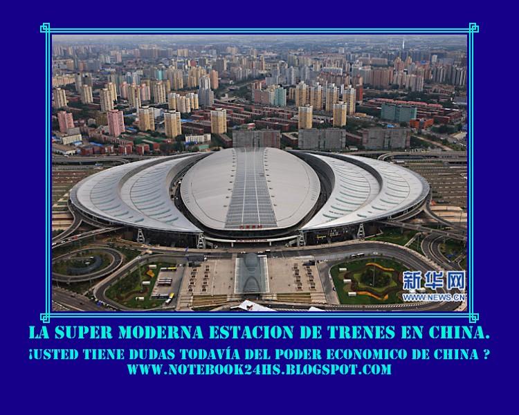 LA SUPER ESTACION DE TRENES DE CHINA - TRENES DE 300 KM pr hora