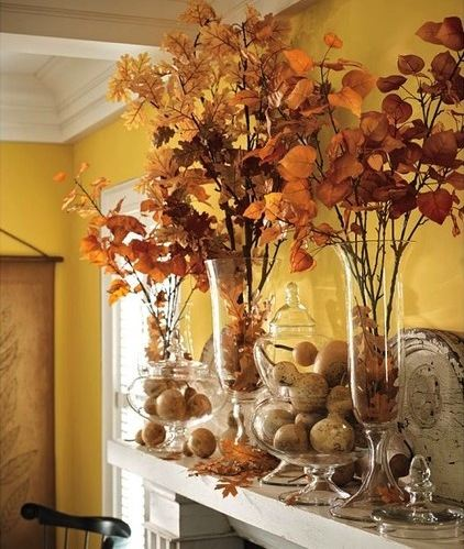 Inspired design diy fall decor for the home for Homemade fall decorations for home