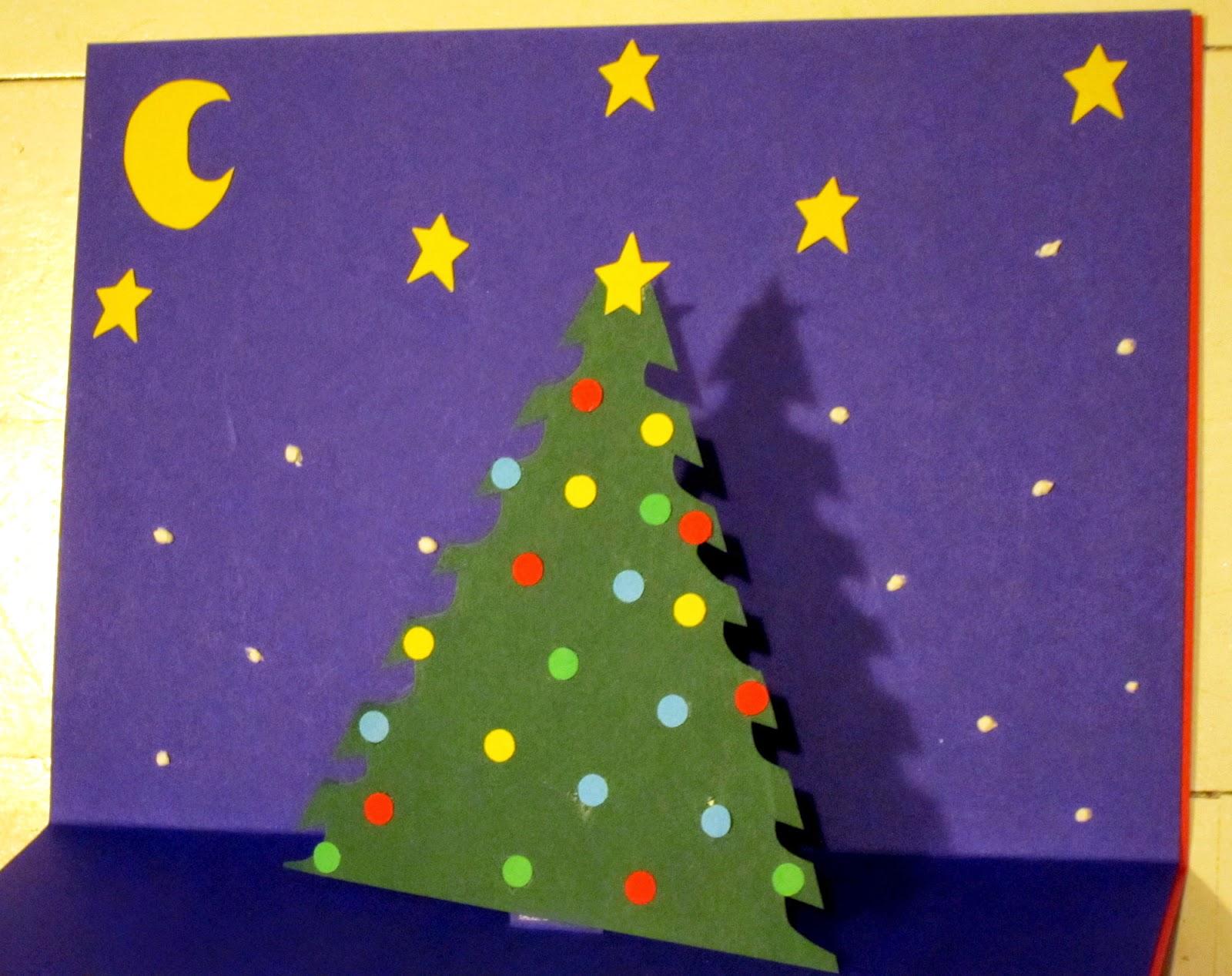 Juletræ pop op kort