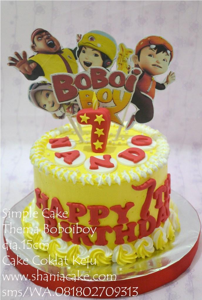 birthday cake jogja simple cake thema boboiboy pak tito