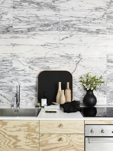 Today I love: marble kitchens