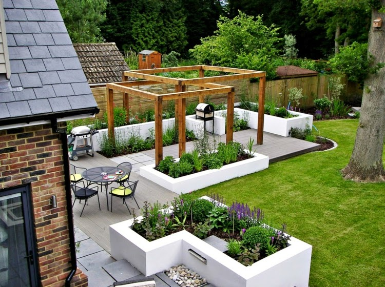 Modern Garden Design Examples Planters As Accent Houzz