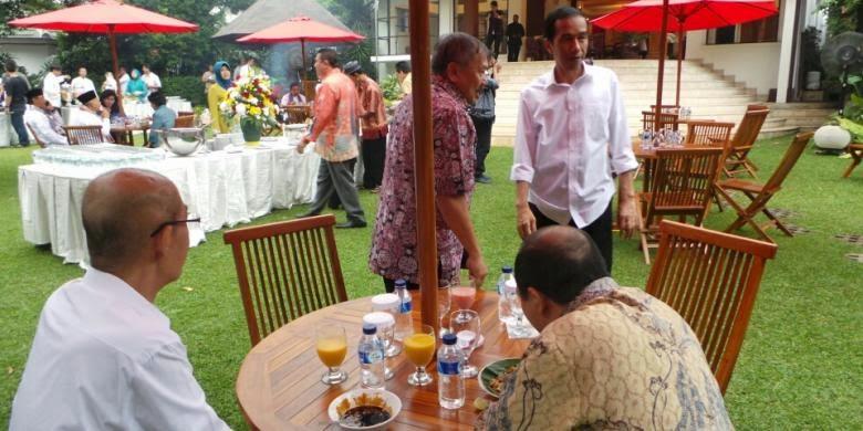 party jokowi rumah dinas