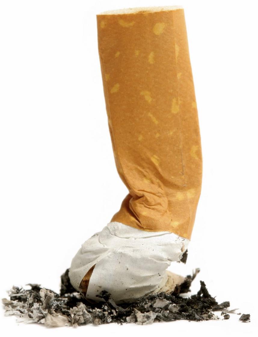 rook van sigaret gaat omlaag ipv omhoog
