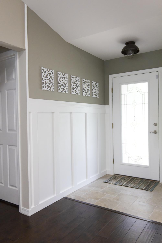 Building A Home Remodeling Foyer Board Amp Batten Reveal