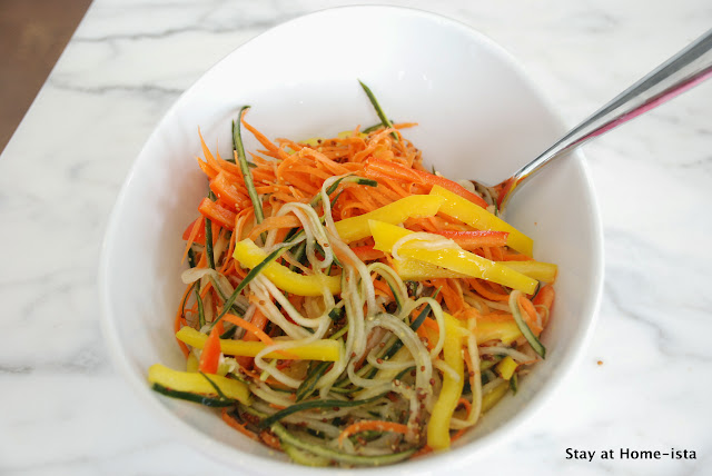 Pickled carrots, cucumbers, and peppers- the perfect slaw