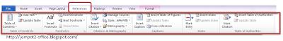 fungsi dan tampilan Menu Ribbon pada MS Word 2007+