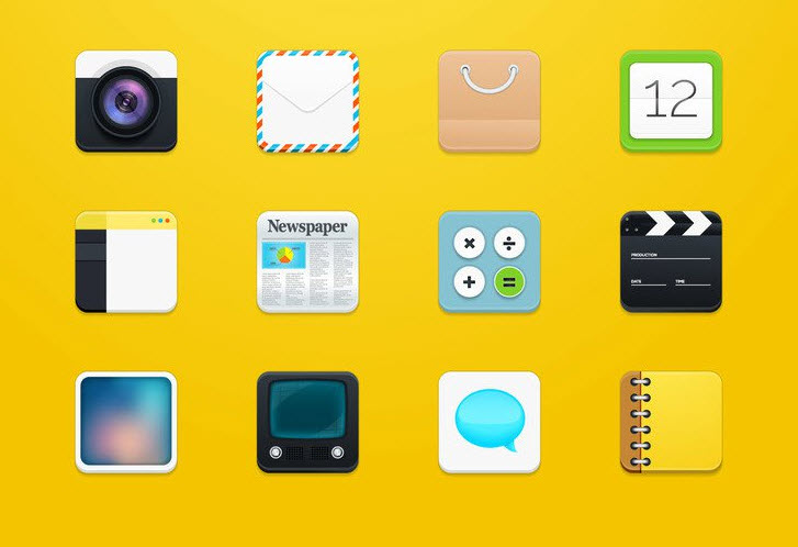 Modern Square Rounded Icons (EPS & PDF)