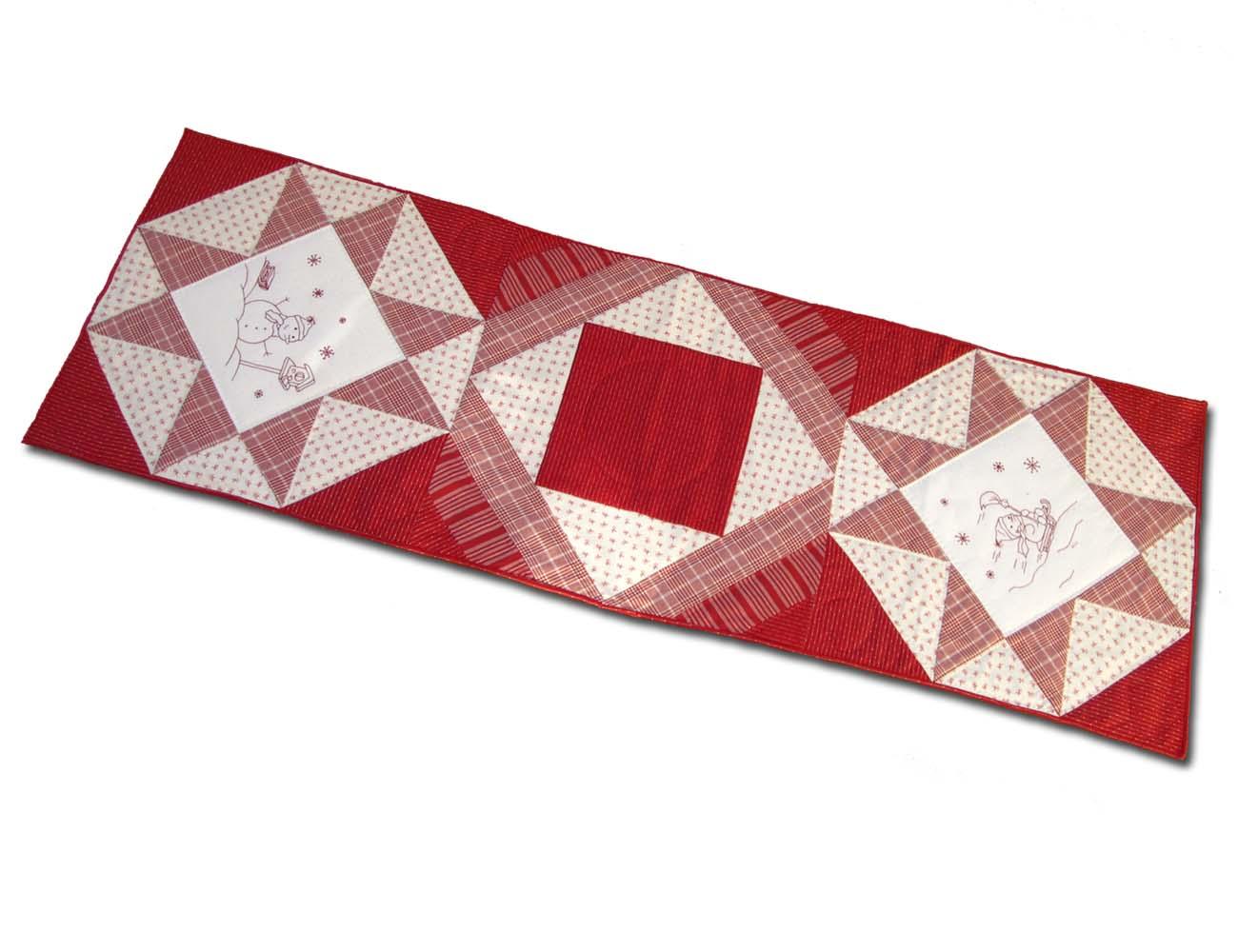 Solo patchwork camino de mesa en patchwork para navidad - Camino mesa patchwork ...