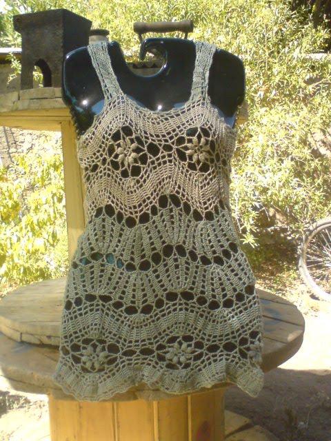 Majetejidos Polera Hilo Tejida Crochet