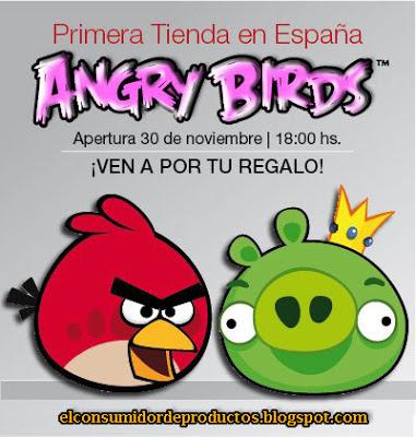 Inaguración de la primera tienda física de Angry Birds en España