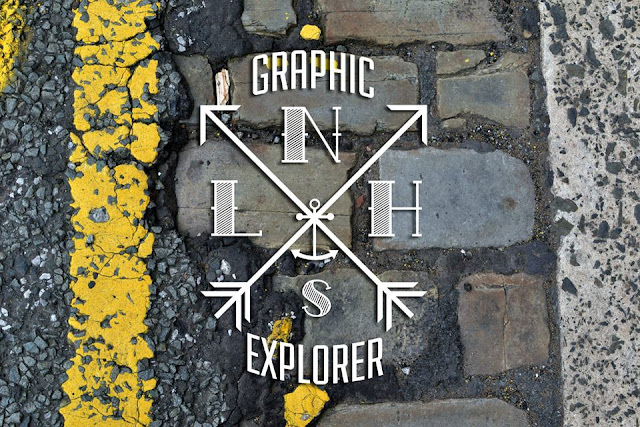 logo, graphic explorer, graphic designer, artist, nautical, texture, wood, cobbles, street, culvert, tunnel, design, type, industrial, modern, traditional, sailor, old school, urbex