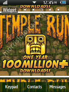 Temple Run Game Samsung Corby 2 Theme Wallpaper